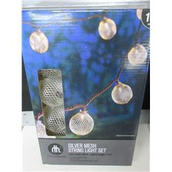 New Silver Mesh String Light Set / tested working