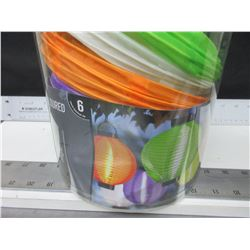 6 LED Fabric Lantern with timer / uses AAA battery's
