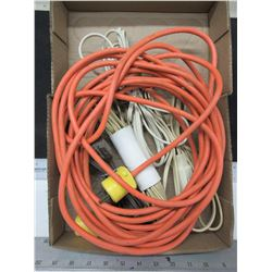Box of Extention Cords / outdoor & indoor