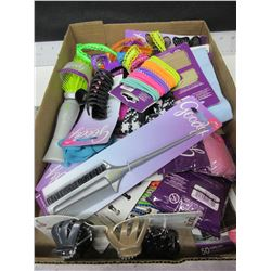 Large bundle of New Goody Hair Products / brushes , clips , elastics & more
