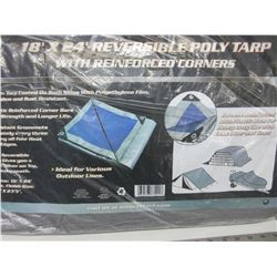 New 18ft x 24ft Reversable Poly Tarp