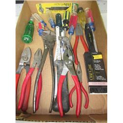 Flat full of Assorted Tools / Pliers , Screwdrivers Etc.
