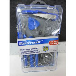 New Mastercraft 20pc Smart Phone Repair Kit