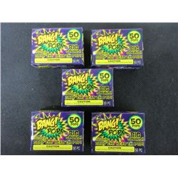 5 Packs of BANG! Pops 50 per pack / NO Shipping on this item