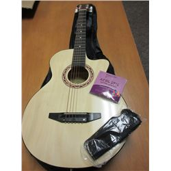 "New 38"" Guitar comes with soft case , strap , extra strings / excellent quality"