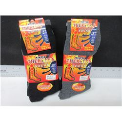 6 new pairs of Winter thermal socks / -25 deg / size 10 - 13