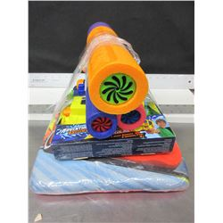 Bundle of kids Summer Pool Fun / Water Blasters and Floatie Board