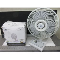 2 Fans / 10 inch  2 speed and 6 inch desk fan with clip