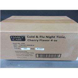 New Case of Cold & Flu night time Cherry flavor / exp 2019 / over 125.00 retail
