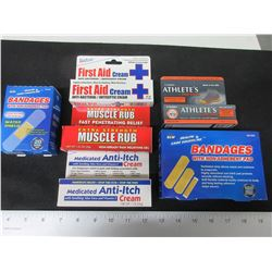 New lot of Assorted First Aid items / Bandages and Creams / great value