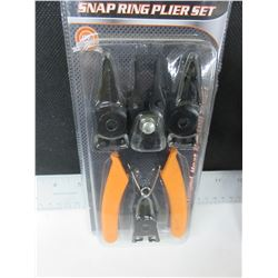 New 4 in 1 Snap Ring Plier Set