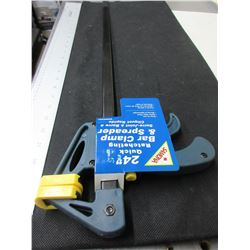 New 24 inch Quick Ratcheting Bar Clamp and Spreader