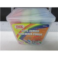 6 New packs of 12 each Jumbo Sidewalk Chalk / great summer fun / 72pc total