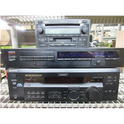 Lot of 3 Stereo Equipment / Sony , Nikko & Toyota / all power on / NOTE:
