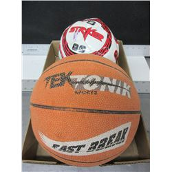 Basket Ball and a Soccerball / both need a little air but are good