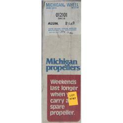 MICHIGAN 8-1/4 X 9 RH ALUMINUM PROPELLER