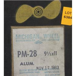 MICHIGAN 9-1/2 X 11 RH ALUMINUM PROPELLER