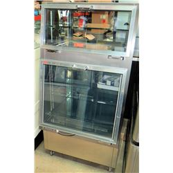 Stainless Double Stack Merchandiser Refrigerator