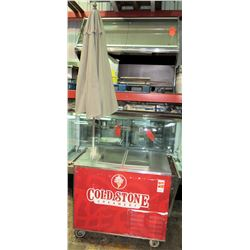 "Cold Stone Portable Ice Cream Freezer w/ Umbrella 62""W x 30""D x 37.5""H"