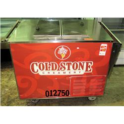 "Cold Stone Portable Ice Cream Freezer w/ Umbrella 4'W x 30""D x 37.5""H"
