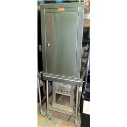 "Stainless Multi Rack Cabinet w/Wheeled Base 23.5""W x 28.5""D x 73""H"