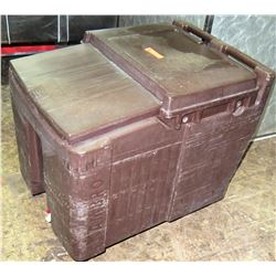 Brown Plastic 2 Side Portable Ice Transport