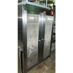 """Stainless Steel Swing Door Multi Rack Cabinet w/Wheels, 49""""W x 29.5""""D x 73""""H"""