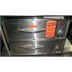 """Wells 2-Drawer Heavy Duty Warmer, Model RW-2HD  (29""""W x 21""""D x 21""""H)"""