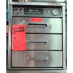 Henny Penny 3-Drawer Heated Holdig Cabinet, Model HC-930