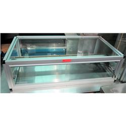 "Rectangle Glass Display Case 49""W x 25.5""D x 14.5""H"