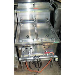 "Stainless Dual Gyoza Cooker 25.5""W x 29.5""D x 43"" Back Height"