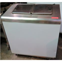 Commercial  Freezer 2 Compartment Ice Cream Fridge