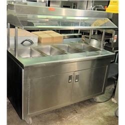 Refrigerated 4-Well Double Sided Buffet Line, 5''W x 3'D x 5'H