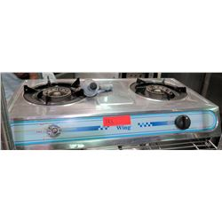 Wing 2 Burner Propane Portable Hot Plate, Model CH808B