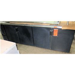 Perlick Black Back Bar 4 Door Cooler Model CS108SB