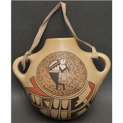 HOPI INDIAN POTTERY CANTEEN (DAWN NAVASIE)