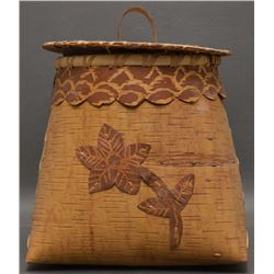 WOODLANDS INDIAN BIRCH BARK CONTAINER