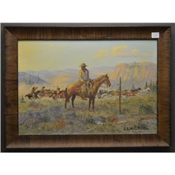WESTERN PAINTING (R.L. MCCOLLISTER)