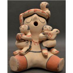 JEMEZ INDIAN POTTERY STORY TELLER  (YOLANDA TOYA)