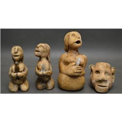 CHOCTAW INDIAN POTTERY FIGURES (ROBERT KANIATOBE)