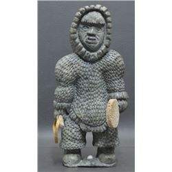 ESKIMO INDIAN SOAP STONE CARVED FIGURE