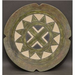 CHEROKEE INDIAN POTTERY PLATE (JANE OSTI)