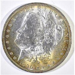 1890-O MORGAN DOLLAR, CH BU