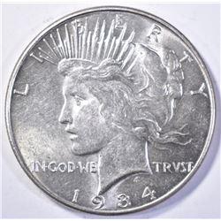 1934 PEACE DOLLAR, CH BU