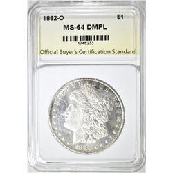 1882-O MORGAN DOLLAR, OBCS CH/GEM BU