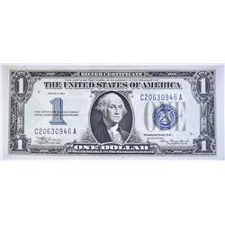"""1934 $1 SILVER CERTIFICATE """"FUNNY BACK""""  LARGE 1"""