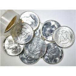 BU ROLL OF 1964 KENNEDY HALF DOLLARS