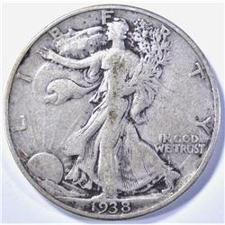 1938-D WALKING LIBERTY VF