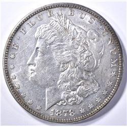 1878 8TF MORGAN DOLLAR, CH BU