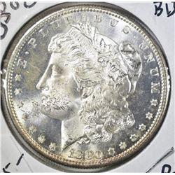 1880-S MORGAN DOLLAR, GEM BU